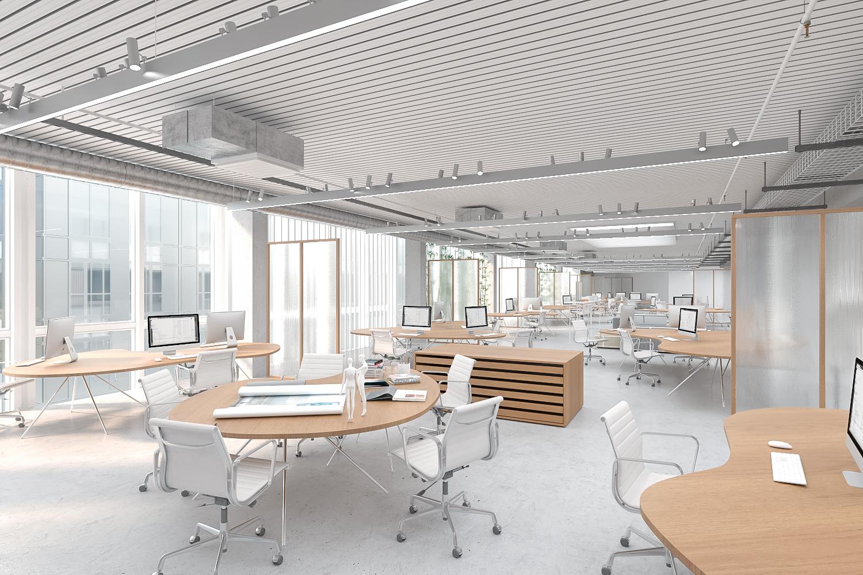Render 3D de oficinas 2